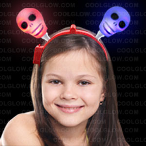 Light Up Skull Headband