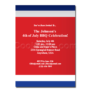 Blue Border - Custom Invitations