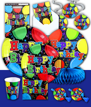 Birthday Balloons Complete Party Pack