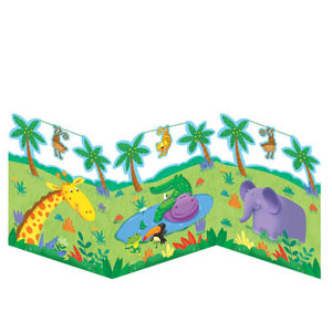Jungle Buddies Accordion Centerpiece