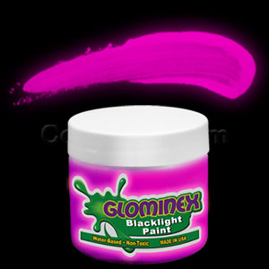 Glominex Blacklight UV Reactive Paint 2 oz Jar - Pink