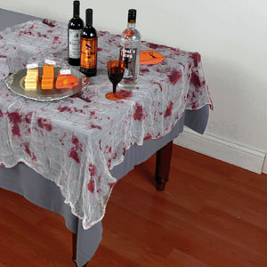 Bloody Gauze Tablecloth- 84in