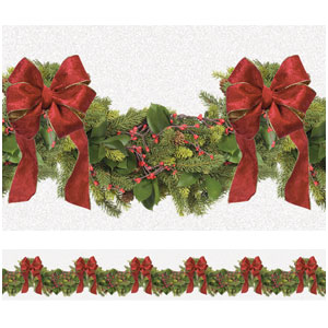 Boughs of Holly Border Roll- 40ft