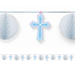 Sweet Christening Blue Honeycomb Trimmer- 12ft