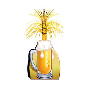 Beer Mug Centerpiece - 15 inches