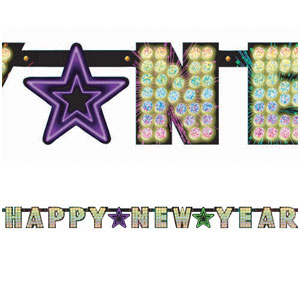 Midnight Marquee Prismatic Banner - 7ft