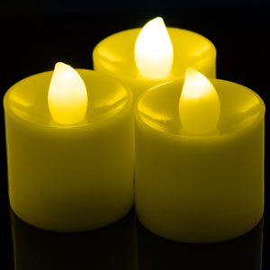 Fun Central I529 LED Light Up Tea Light Candles Yellow