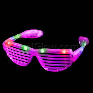 LED Stunner Slotted Shades - Pink