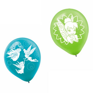 Disney Tinkerbell Printed Latex Balloons- 6ct