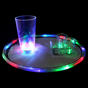 Lighted 14 Inch Serving Tray - Multicolor