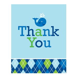 Ocean Preppy Thank You Cards - 8ct