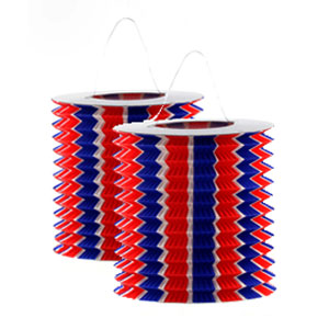 Patriotic Stripes Paper Lanterns