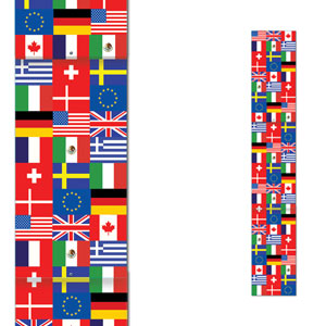 Jointed International Flag Pull-Down Cutout- 6ft