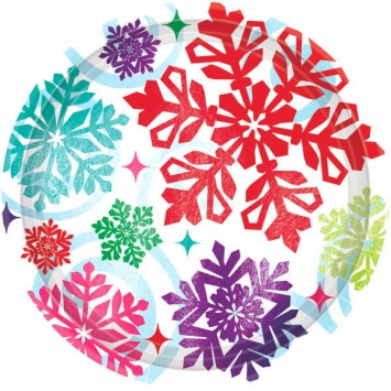 Bright Holiday Plates 10 12 inches
