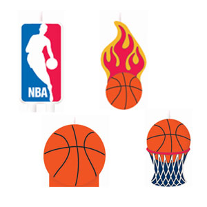 Spalding Basketball NBA Molded Cake Candles- 6ct
