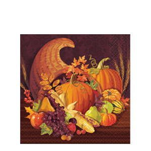 Harvest Plastic Table Cover- 102 Inch