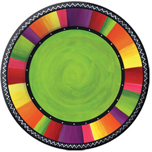 Fiesta Stripes 11 Inch Plates- 8ct