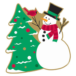 Snowman  Christmas Tree Cutout- 13 Inch