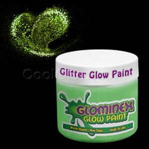 Glominex™ Glitter Glow Paint 8 oz Jar - Green