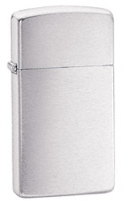 Slim Brushed Chrome Zippo Lighter