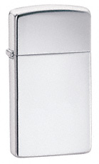 Slim High Polish Chrome Zippo Lighter