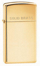 Solid Brass Engraved Zippo Lighter