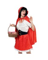 Red Riding Hood Velvet Adult Costume