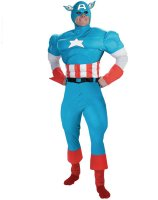 Captain America Deluxe Muscle Adult Costume - Standard One-Size