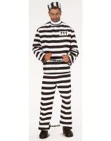 Convict Adult Costume - Standard One-size