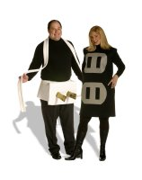 Plug & Socket Couples Set Adult Plus Costume - Plus