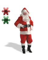 Kris Kringle Suit Adult Plus Costume - 2X