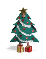 Christmas Tree with Shoe Boxes Adult Costume - L/XL