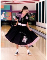 Complete Poodle Skirt Outfit Black & Pink Adult Plus Costume - 2X/3X