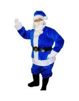 Blue Santa Suit Adult Large Costume - Large
