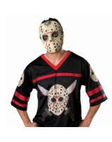 Friday the 13th Jason Hockey Jersey with Mask Adult Costume - X-Large
