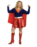 Supergirl Adult Plus Costume - Plus