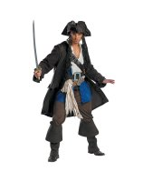 Pirates of the Caribbean - Captain Jack Sparrow Prestige Adult Costume - Adult XL (42/46)