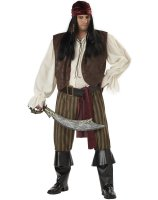 Rogue Pirate Adult Plus Costume - Plus 48-52