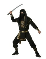 Ninja Warrior Elite Collection Adult Costume - Medium