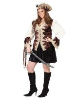 Royal Lady Pirate Adult Plus Costume - Plus