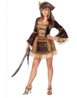 Sassy Victorian Pirate Adult Costume - S/M (2-8)