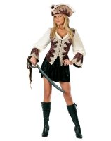 Royal Lady Pirate Adult Costume - S/M (2-8)