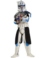 Star Wars Animated Deluxe Clone Trooper Leader Rex Child Costume - Small