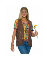 Hippie Vest Adult Costume - Standard (One-Size)