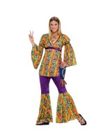 Purple Haze Hippie Adult Costume - Standard (One-Size)