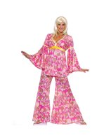 Flower Power Hippie Adult Costume - Standard (One-Size)