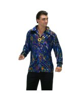 Dynomite Dude Disco Shirt Adult Costume - X-Large
