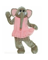 Elephant Plush Economy Mascot Adult Costume - One-Size