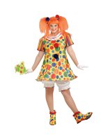 Giggles The Clown Adult Plus Costume - Plus (18-22)