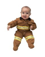 Jr. Fire Fighter Suit Tan Infant Costume